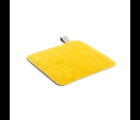 HAY Pannenlap Pot geel textiel 21,5x21,5cm