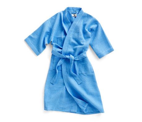 HAY Badjas Waffle blauw textiel - one size