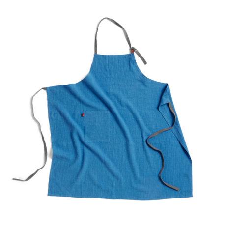 HAY Schort Wrap blauw textiel 98x98cm