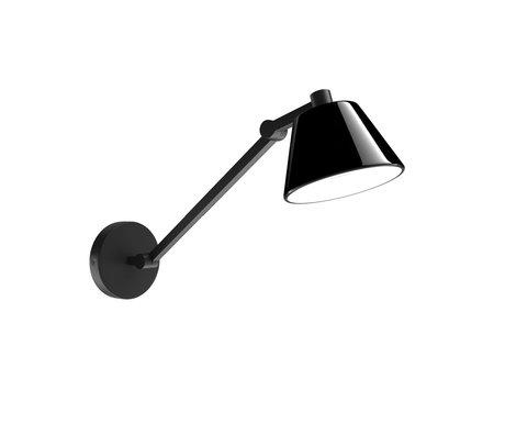 Zuiver Wandlamp Lub zwart metaal 14,5x48x17cm