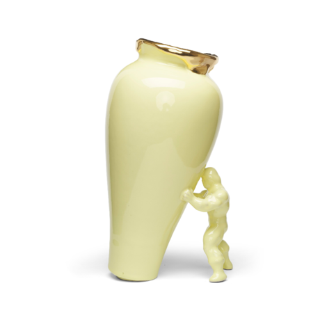 Jasmin Djerzic Vase My Superhero Gelbgold Keramik 30x19x15cm