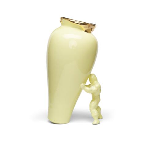 Jasmin Djerzic Vase My Superhero or jaune céramique 30x19x15cm