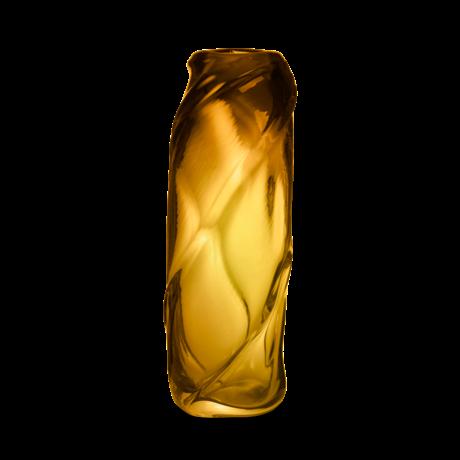 Ferm Living Vaas Water Swirl amber mondgeblazen massief glas 16x14x47cm