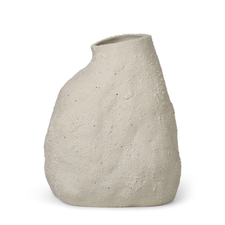 Ferm Living Vaas Vulca medium gebroken wit geglazuurd steengoed 25x21x36cm