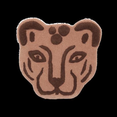 Ferm Living Vloerkleed Leopard Head bruin getuft wol 60x3x57,2cm