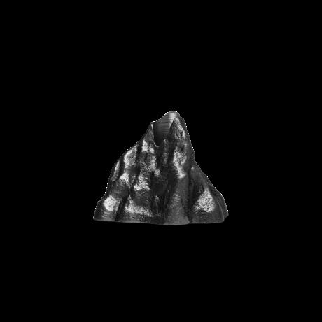 Ferm Living Kandelaar Stone small grijs aluminium 5,02x3,75x3,69cm