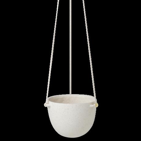 Ferm Living Hangpot Speckle large gebroken wit aardewerk Ø20,5x14,5cm