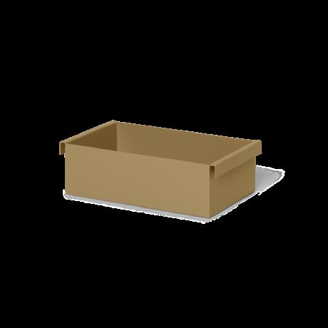 Ferm Living Plantenbak Container olijfgroen gepoedercoat metaal 25,7x14,7x7,6cm