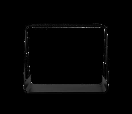 Ferm Living Opbergmand Port zwart metaal leer 50x24x40cm