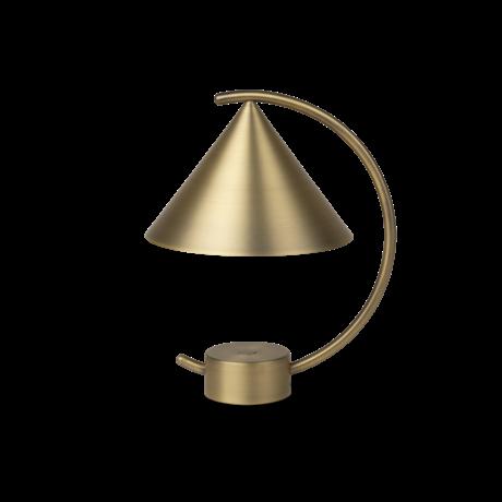 Ferm Living Tafellamp Meridian goud gepoedercoat metaal 20,9x17x26cm