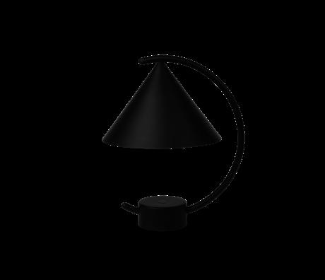 Ferm Living Tafellamp Meridian zwart gepoedercoat metaal 20,9x17x26cm