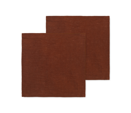 Ferm Living Servet Linen kaneel linnen 45x45cm set van 2