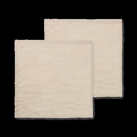 Ferm Living Servet Linen natuur linnen 45x45cm set van 2