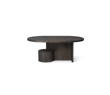 Ferm Living Salontafel Insert zwart gebeitst essenhout 100x60x40cm