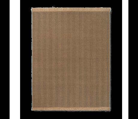 Ferm Living Deken Herringbone bruin wol katoen 120x180cm