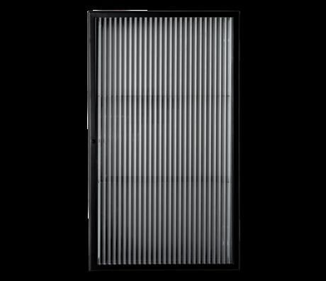 Ferm Living Wandkast Haze zwart rietglas metaal 35x15x60cm