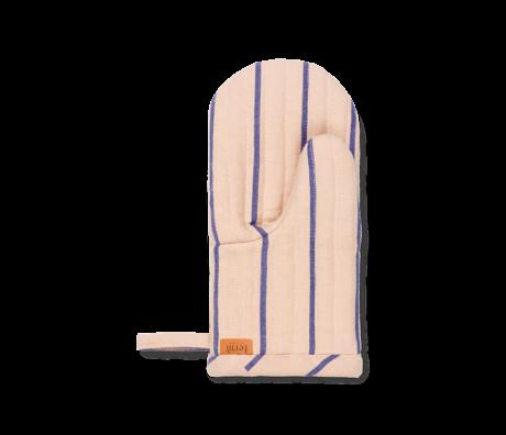 Ferm Living Ovenwant Hale roze blauw katoen linnen 13,5x3x28cm