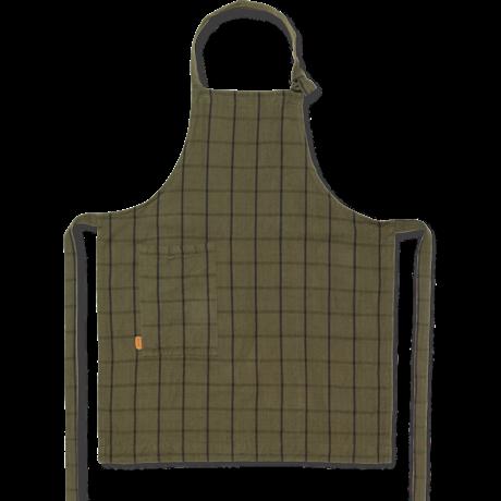 Ferm Living Schort Hale groen zwart katoen linnen 72x86cm