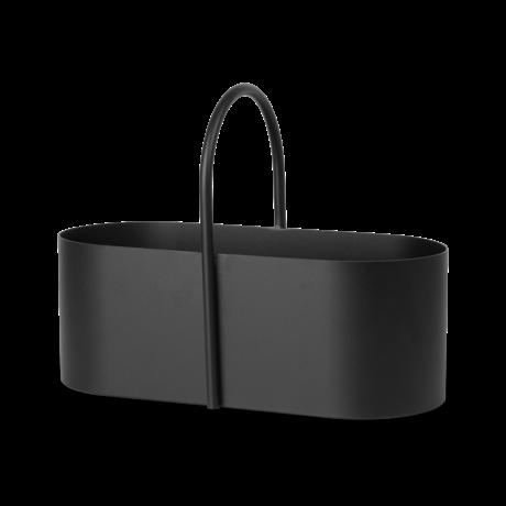 Ferm Living Gereedschapskist Grib zwart gepoedercoat metaal 35x17x26,3cm