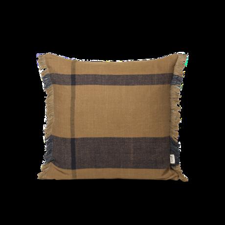 Ferm Living Kussen Dry bruin zwart textiel 50x50cm