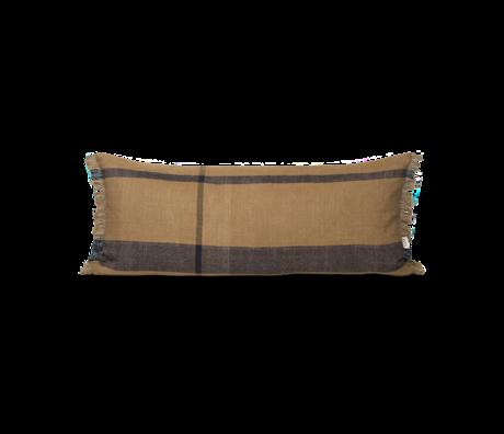 Ferm Living Kussen Dry bruin zwart textiel 40x90cm
