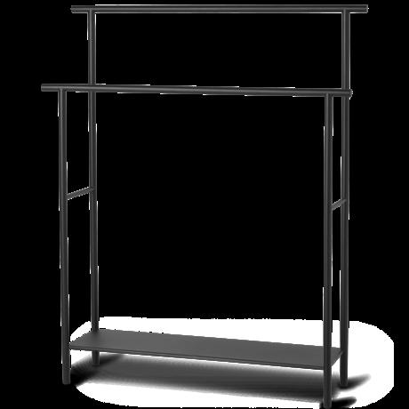 Ferm Living Handdoekhouder Dora zwart gepoedercoat metaal 72,5x19,6x88,3cm