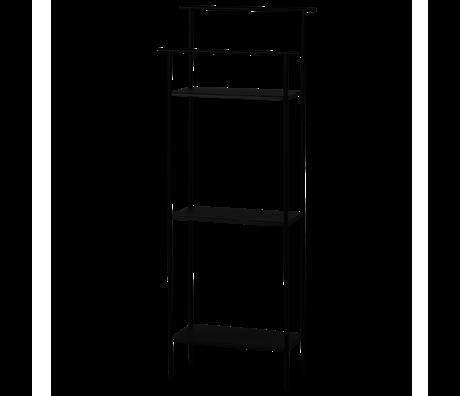 Ferm Living Stellingkast Dora zwart gepoedercoat metaal 30x13,3x79,2cm