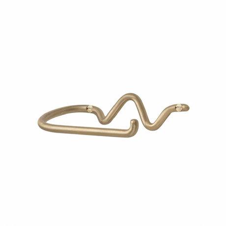 Ferm Living Toiletrolhouder Curvature goud messing 15x8,4x4,6cm