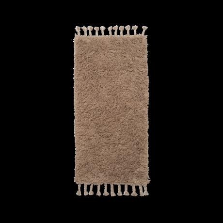 Ferm Living Vloerkleed Amass bruin katoen 70x140cm
