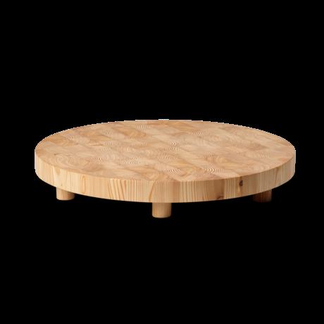 Ferm Living Snijplank Chess rond large naturel bruin hout Ø45x6,5
