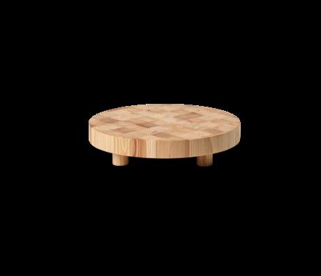 Ferm Living Snijplank Chess rond small naturel bruin hout Ø30x6,5cm