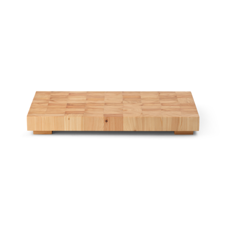 Ferm Living Snijplank Chess rechthoek large naturel bruin hout 40x25x4,7cm