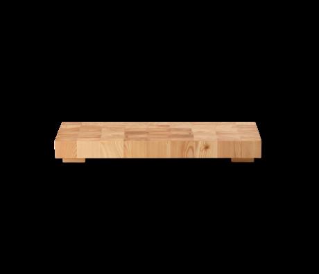 Ferm Living Snijplank Chess rechthoek small naturel bruin hout 40x15x4,7cm