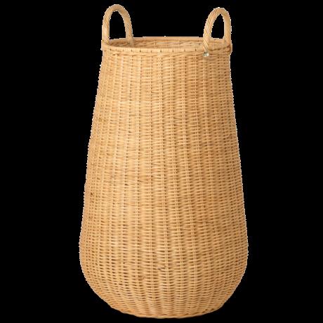 Ferm Living Laundry basket Braided natural brown rattan Ø42x80cm