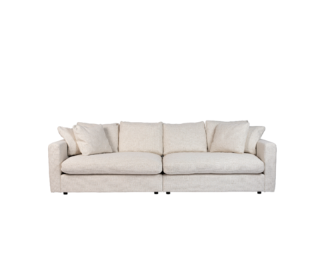 Zuiver Sofa Sense 3-zits creme textiel 266x113x85cm