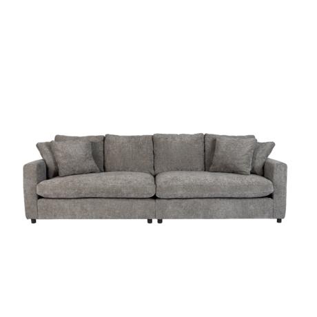 Zuiver Sofa Sense 3-zits grijs textiel hout 266x113x85cm