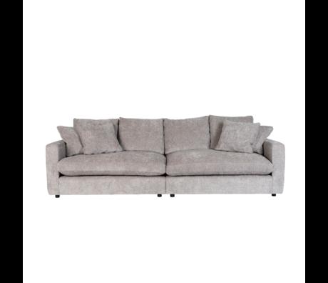 Zuiver Sofa Sense 3-zits lichtgrijs textiel 266x113x85cm