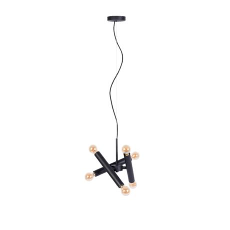 Zuiver Hanglamp Hawk Triple  zwart metaal 17x39x170cm