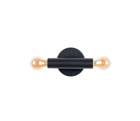 Zuiver Wandlamp Hawk zwart metaal 12x9x39cm