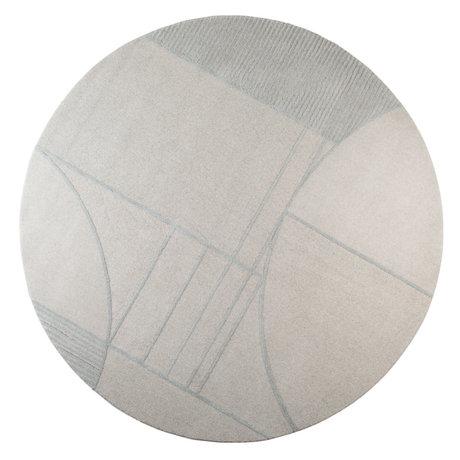 Zuiver Vloerkleed Bliss grijs/blauw textiel Ø240cm