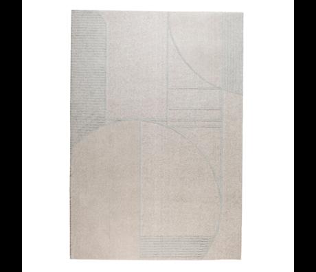 Zuiver Vloerkleed Bliss grijs/blauw textiel 240x400cm