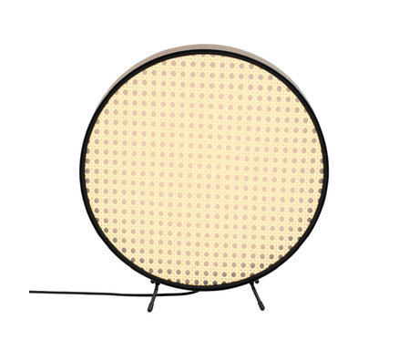 Zuiver Tafellamp Sien zwart rotan metaal 34x5x36cm