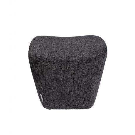 Zuiver Hocker Dusk donkergrijs textiel 47x49x43cm