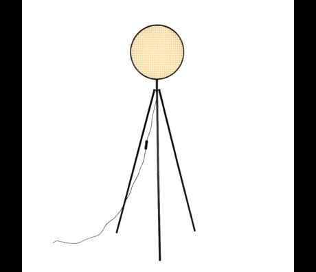 Zuiver Vloerlamp Sien zwart rotan metaal 58x34x141cm