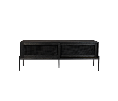 Zuiver Dressoir Hardy zwart hout metaal 160x45x60cm