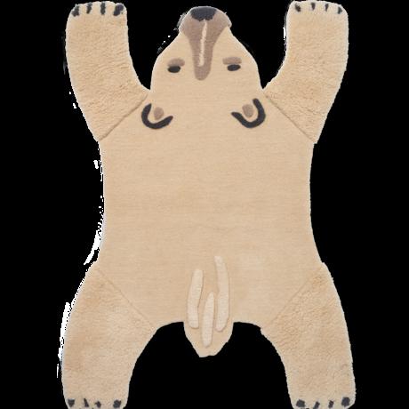 Ferm Living Vloerkleed Ijsbeer wol katoen 118x3x160cm