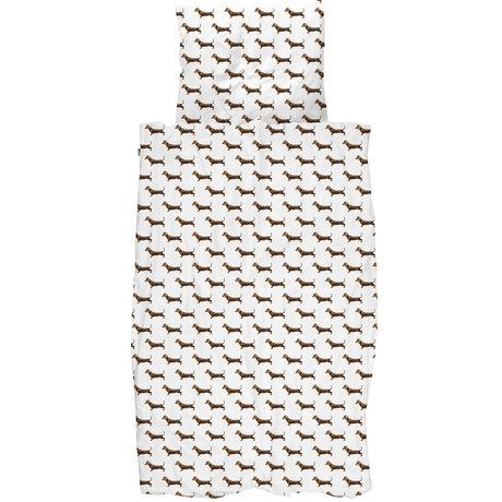 Snurk Beddengoed Snurk beddengoed dekbedovertrek james multicolour textiel 100x135cm