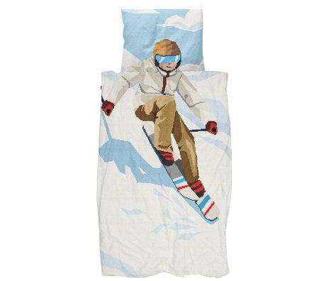 Snurk Beddengoed Snurk bedding duvet cover ski boy multicolour textile 140x200 / 220cm