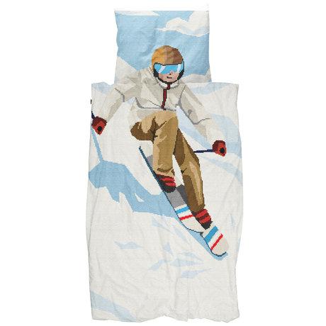 Snurk Beddengoed Snurk beddengoed dekbedovertrek ski boy multicolour textiel 140x200/220cm