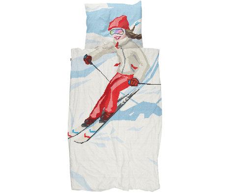 Snurk Beddengoed Snurk Bedding housse de couette ski fille textile multicolore 140x200 / 220cm